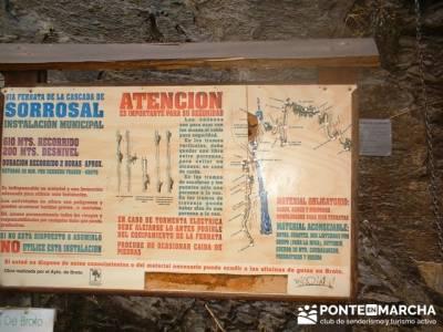 Via Ferrata de Sorrosal en Broto; agencias de senderismo madrid; clubes de montaña madrid